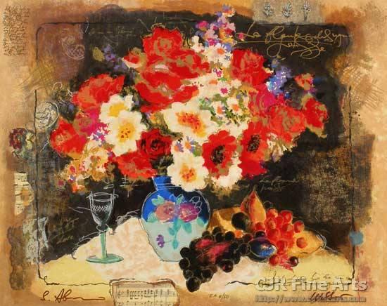 alexander-wissotzky-flowers-with-a-glass-of-wine